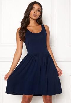 Pieces Lorena SL Dress Maritime Blue Bubbleroom.se