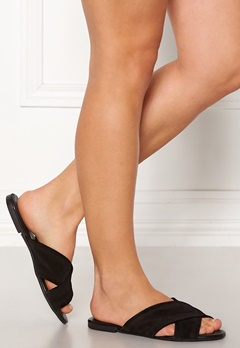 Pieces Marnie Suede Sandals Black Bubbleroom.se
