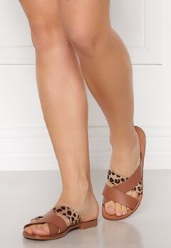 Pieces Naomi Leather Sandal Cognac Bubbleroom.se