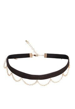 Pieces Nara Choker Black Bubbleroom.se