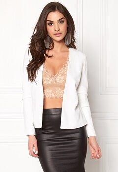 Pieces Nattie Blazer White Bubbleroom.se