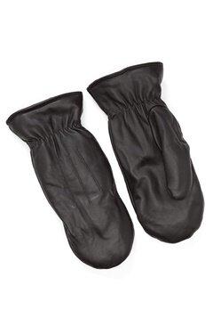 Pieces Nellie Leather Mittens Black Bubbleroom.se