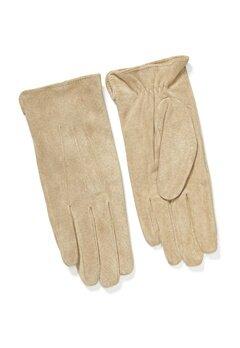 Pieces Nellie Suede Gloves Natural Bubbleroom.se