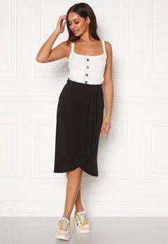 Pieces Neora HW Skirt Black Bubbleroom.se