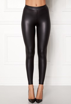 Pieces New Shiny Leggings Musta Bubbleroom.fi