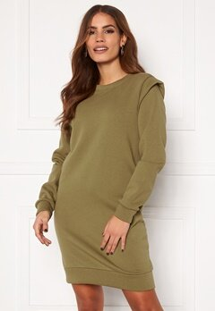 Pieces Nippy LS Long Sweat Martini Olive Bubbleroom.se