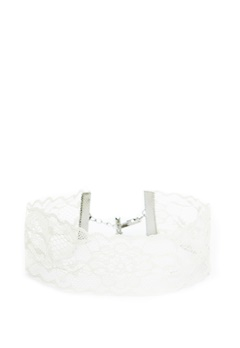 Pieces Nora Choker Bright White Bubbleroom.se