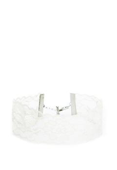 Pieces Nora Choker Bright White Bubbleroom.fi