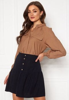 Pieces Nykke LS Shirt Toasted Coconut Bubbleroom.se