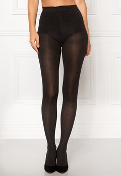 Pieces Pelin tights Dark grey melange Bubbleroom.se