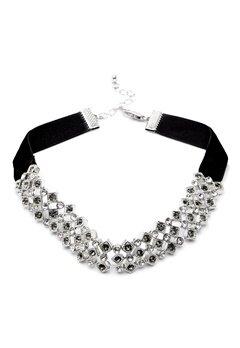 Pieces Racki Choker Necklace Silver Colour Bubbleroom.no