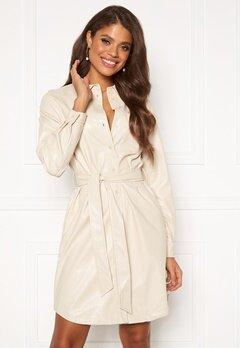 Pieces Rena LS Shirt Dress Whitecap Gray Bubbleroom.se