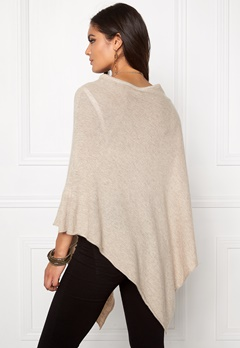 Pieces Rikki Wool Poncho Feather Gray Bubbleroom.se
