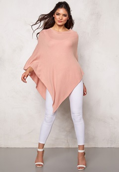 Pieces Rikki wool poncho Misty Rose Bubbleroom.se