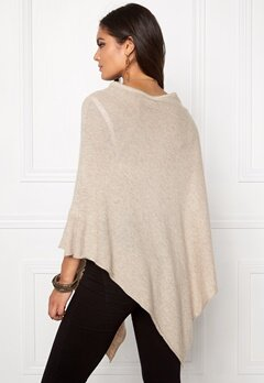 Pieces Rikki Wool Poncho Noos Feather Gray Bubbleroom.fi