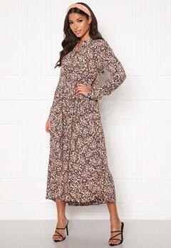 Pieces Riri LS Midi Dress Ash Rose AOP Bubbleroom.se