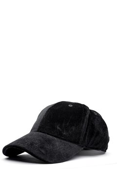 Pieces Romina Velvet Cap Black Bubbleroom.fi