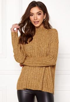 Pieces Sanni LS Wool Knit Nugget Gold Bubbleroom.se