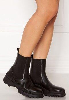 Pieces Selione Leather Boot Black Bubbleroom.se