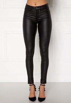 Pieces Shape Up Coated Jeans Black Bubbleroom.se
