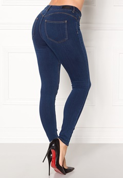 Pieces Shape-up Jeggings Dark Blue Denim Bubbleroom.fi