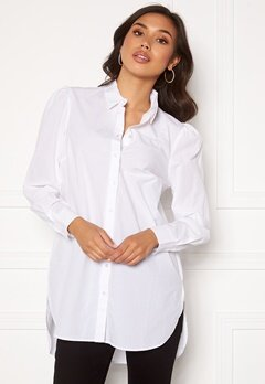 Pieces Siva Puff Sleeved Shirt Bright White Bubbleroom.se