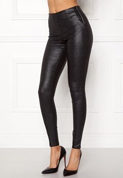 Pieces Skin Paro Leggins Shiny Black Bubbleroom.se