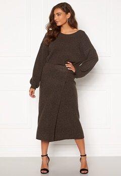 Pieces Suna HW Knit Skirt Mole Bubbleroom.se
