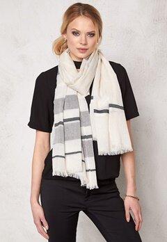 Pieces Tabesha long scarf Whitecap Grey Bubbleroom.se