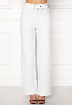 Pieces Vicca HW Vide Pants Bright White Bubbleroom.se