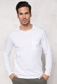 SELECTED HOMME Pima Florence ls O-Neck Bright White Bubbleroom.se