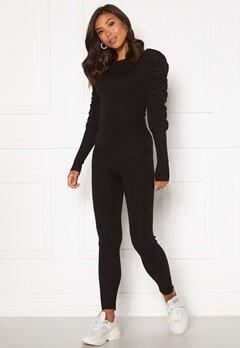 Girl In Mind Piper Ribbed Loungewear Set Black Bubbleroom.se