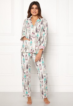 PJ. Salvage PJ Flannel Set Natural Bubbleroom.se