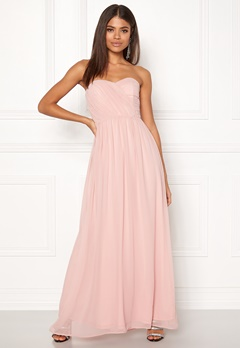 New Look Plain Bandeau Maxi Dress Shell Pink Bubbleroom.se