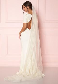 Zetterberg Couture Plain Veil Long 250 cm Creme Bubbleroom.se
