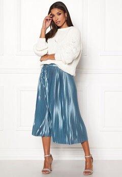 ICHI Pleat Skirt Blue Shadow Bubbleroom.se