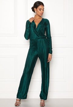 Rut & Circle Pleated Jumpsuit Dark Green Bubbleroom.se