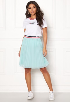 TOMMY JEANS Pleated Skirt 407 Canal Blue Bubbleroom.se