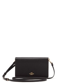 COACH Polished Pebble Foldover Black Bubbleroom.se