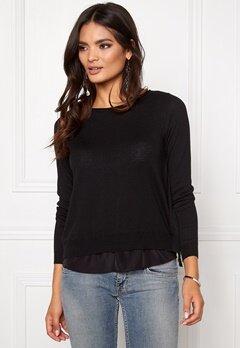 ONLY Porto L/S Pullover Knit Black Bubbleroom.no