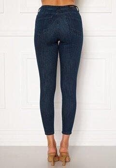 ONLY Power Life Mid Push Up Jeans Dark Blue Denim Bubbleroom.se