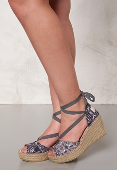 Odd Molly Printed Espadrillos Almost Black Bubbleroom.se