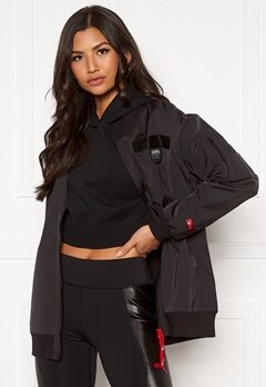 PUMA AL Long Bomber Jacket 001 Black Bubbleroom.se