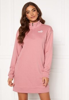 PUMA Ess + Half Zip Dress 016 Pink Bubbleroom.se