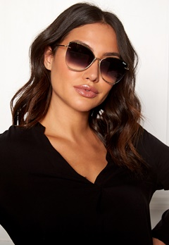 Quay Australia Dusk To Dawn Sunglasses Gold/Smoke Lens Bubbleroom.se
