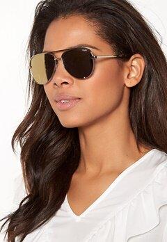 Quay Australia High Key Mini Sunglasses Gold/Gold Mirror Bubbleroom.se