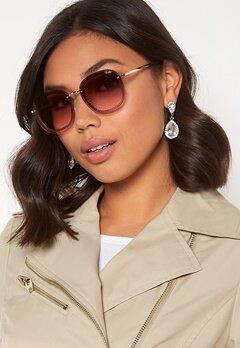 Quay Australia Jezabell Chain Sunglasses Gold/Brown Pink Bubbleroom.se