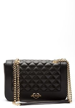 Love Moschino Quilted Big Chain Bag Black/Gold Bubbleroom.eu