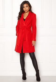 ONLY Rachel Wool Coat Goji Berry Bubbleroom.se