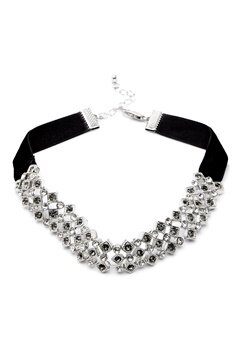 Pieces Racki Choker Necklace Silver Colour Bubbleroom.se